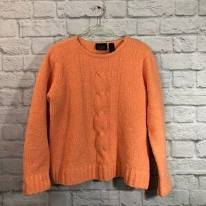 Crazy Horse oversized light orange knit sweater